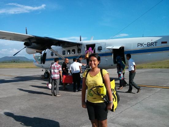 pertama kalinya naik pesawat sekecil ini!